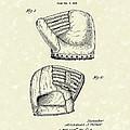 Baseball Mitt 1945 Patent Art by Prior Art Design