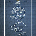 Baseball Mitt By Archibald J. Turner - Vintage Patent Blueprint by Serge Averbukh