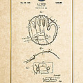 Baseball Mitt By Archibald J. Turner - Vintage Patent Document by Serge Averbukh