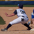 Baseball Pick Off Attempt by Thomas Woolworth