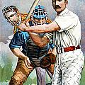 Baseball Player At Bat by Unknown