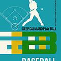 Baseball Poster by Naxart Studio