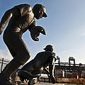 Baseball Statue At Citizens Bank Park by Bill Cannon