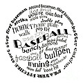 Baseball Terms Typography Black And White by Andee Design