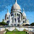Basilica Sacred Heart- Paris by Dragica  Micki Fortuna