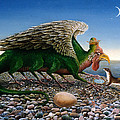 Basilisk, 1986 Oils And Tempera On Paper by Frances Broomfield