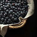 Basket Full Fresh Picked Blueberries by Edward Fielding