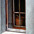 Basket In Window by Gigi Ebert