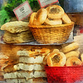 Basket Of Bialys by Susan Savad