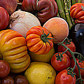Basket Of Fruits And Vegetables by Michael Moriarty