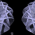 Basket Of Hyperbolae - Stereogram by David Voutsinas