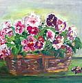 Basket Of Pansies by Anna Ruzsan