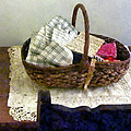 Basket With Cloth And Measuring Tape by Susan Savad
