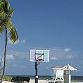 Basketball Goal On The Beach by Bob Pardue