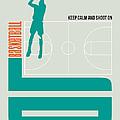 Basketball Poster by Naxart Studio