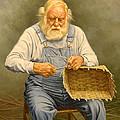 Basketmaker  In Oil by Paul Krapf