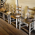 Baskets On Ladder Back Chairs by Lynn Palmer