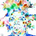Basquiat Jean Michel Watercolor Portrait by Fabrizio Cassetta