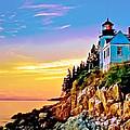 Bass Harbor Light Acadia Np by Bob and Nadine Johnston