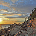 Bass Harbor Lighthouse Sunset Landscape by Glenn Gordon