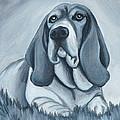 Basset Hound In Black And White by Lauren Hammack