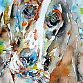 Basset Hound - Watercolor Portrait.1 by Fabrizio Cassetta