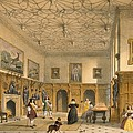 Bat Game In The Grand Hall, Parham by Joseph Nash