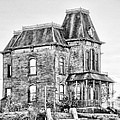 Bates Motel Haunted House Black And White by Paul W Sharpe Aka Wizard of Wonders