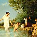 Bathers by Albert Anker