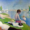 Bathers In Asnieres by Georges Seurat