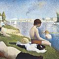 Bathing At Asnieres by George-Pierre Seurat
