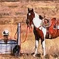 Bathing Cowgirl by Murphy Elliott