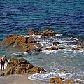 Bathing In The Sea - La Coruna by Mary Machare