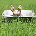 Bathtub And Feet by Mats Silvan