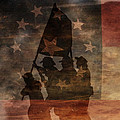 Battle Flag Silhouette 1st Of Three by Randy Steele