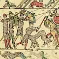 Battle Of Hastings The Battle Rages by Mary Evans Picture Library