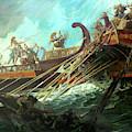 Battle Of Salamis, 480 Bce by Stanley Meltzoff / Silverfish Press