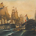 Battle Of Trafalgar by Konstantinos Volanakis