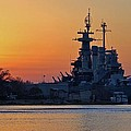 Battleship Sunset by Cynthia Guinn