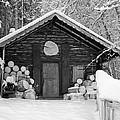 Bavarian Hut In Snow by Shirley Radabaugh