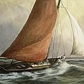 Bawley In The Estuary by Vic Trevett