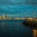 Bay And City At Night by Yuri Levchenko