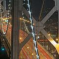 Bay Bridge Night Colors by David Yu