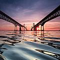 Bay Bridge Reflections by Jennifer Casey