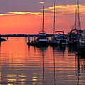 Bay Bridge Sunset by Doug Edmunds