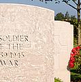 Bayeux British Cemetery Unknown Soldier by Weston Westmoreland