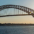 Bayonne Bridge Panoram Sunset by Michael Ver Sprill