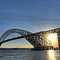 Bayonne Bridge Sunburst by Michael Ver Sprill