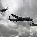 Bbmf Lancaster Spitfire Hurricane by J Biggadike