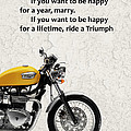 Be Happy Triumph by Mark Rogan